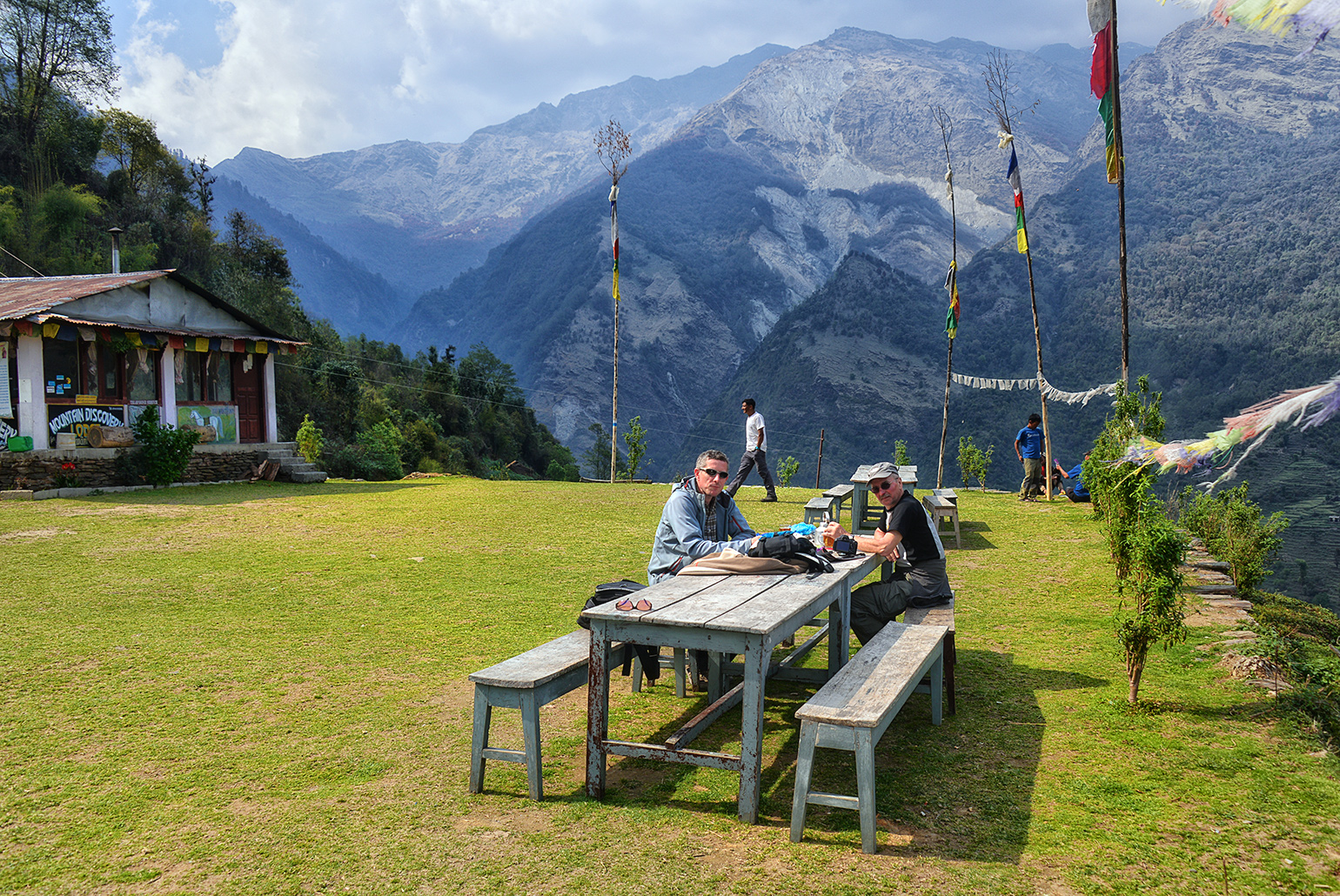 Spectaculair terras aan de Mountain Discovery Lodge