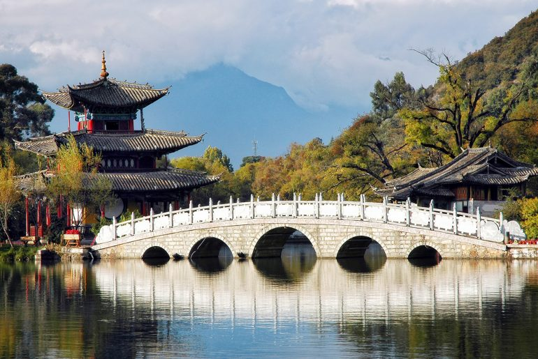 De Black Dragon Pool in Lijiang